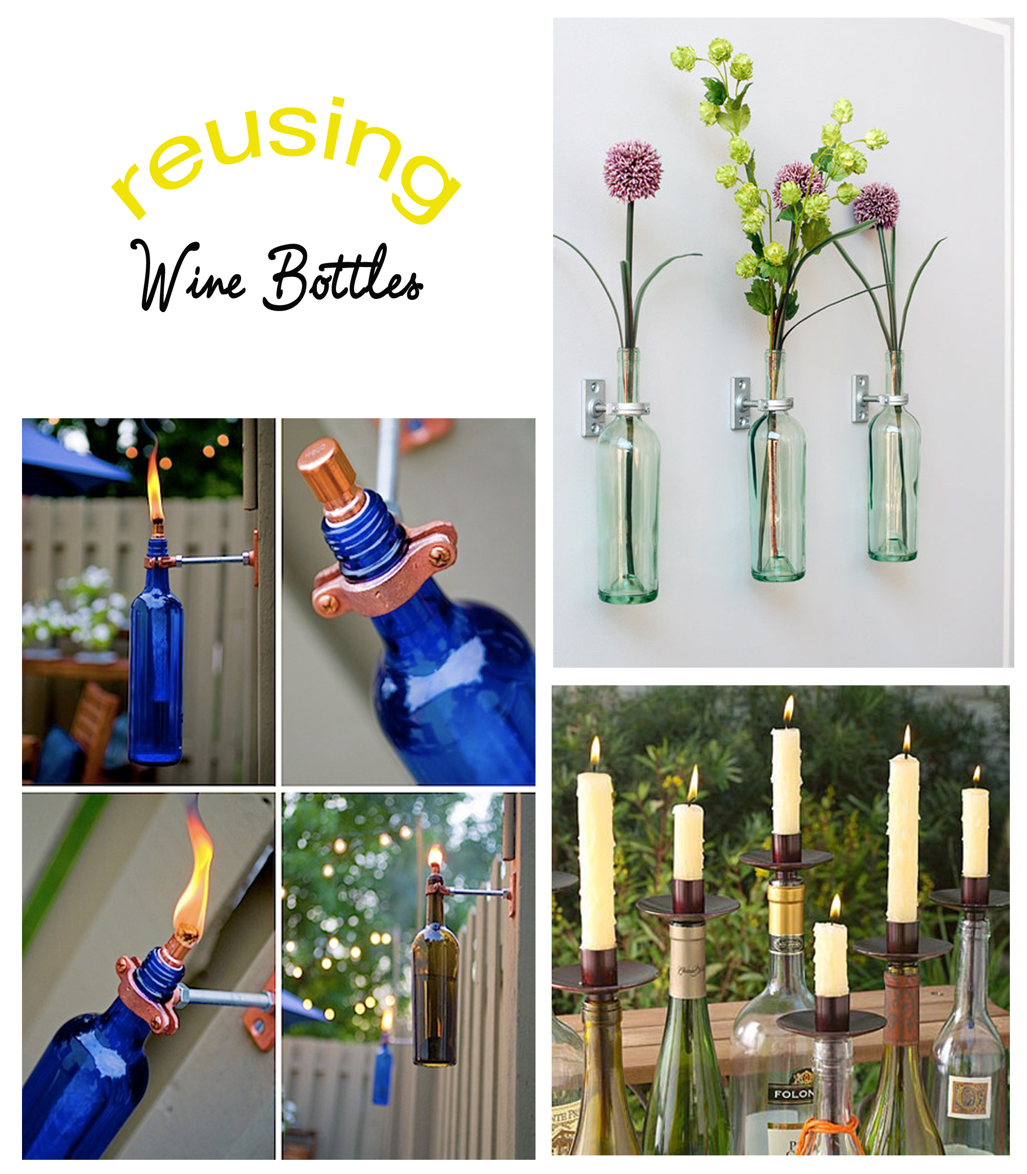 Reusing wine bottles bewhatwelove for Recycling wine bottles creatively
