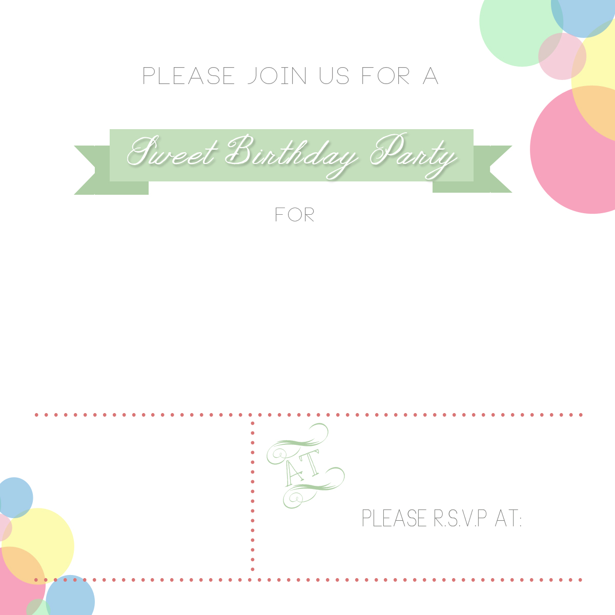 Email Invitation Template Plain