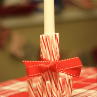 DIY Candy Cane Candlestick