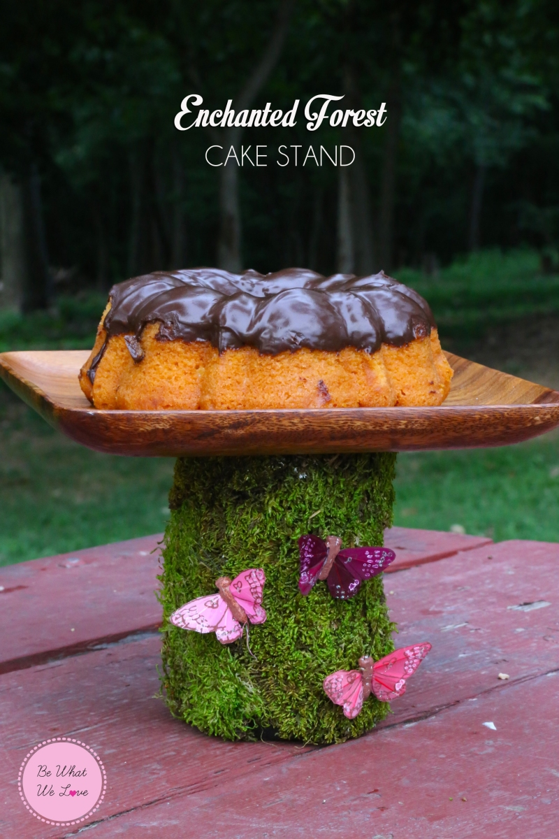 DIY: Enchanted Forest Cake Stand