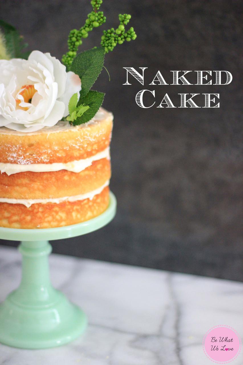 Ideas For A Naked Sponge  Tier Wedding Cake