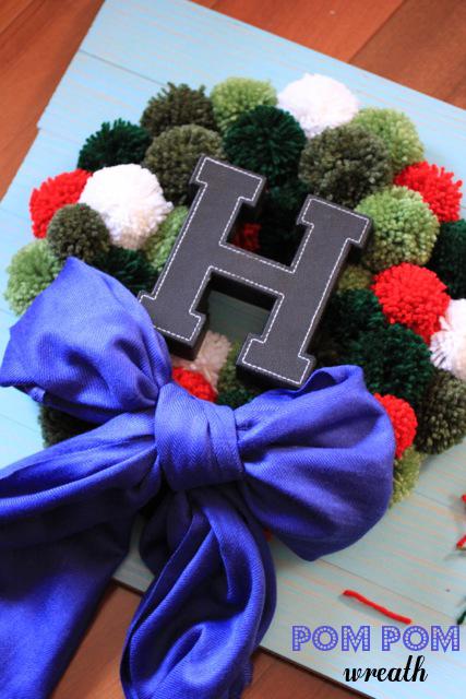 Pom Pom Wreath { Be What We Love}