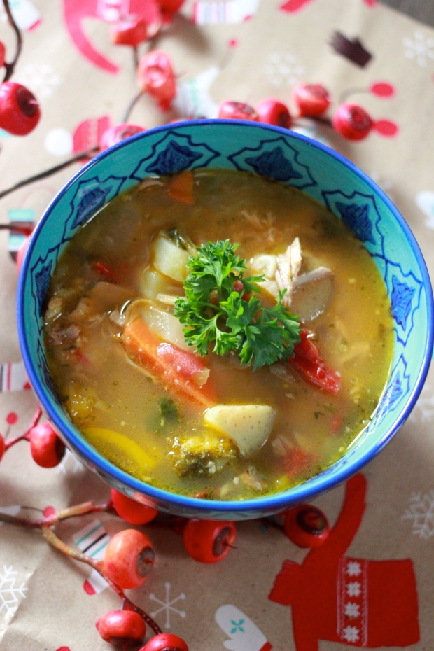 Green Chile Turkey Soup / Be What We Love blog