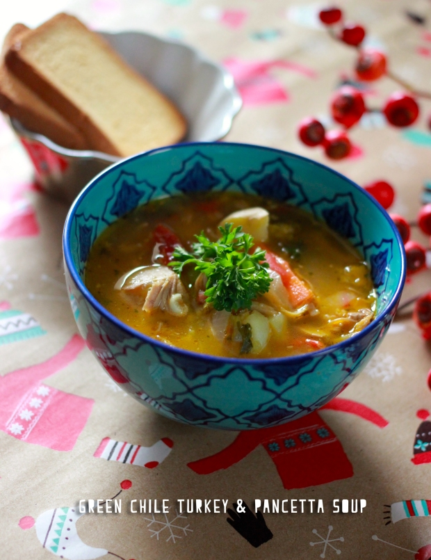 Green Chile Turkey & Pancetta Soup / Be What We Love blog