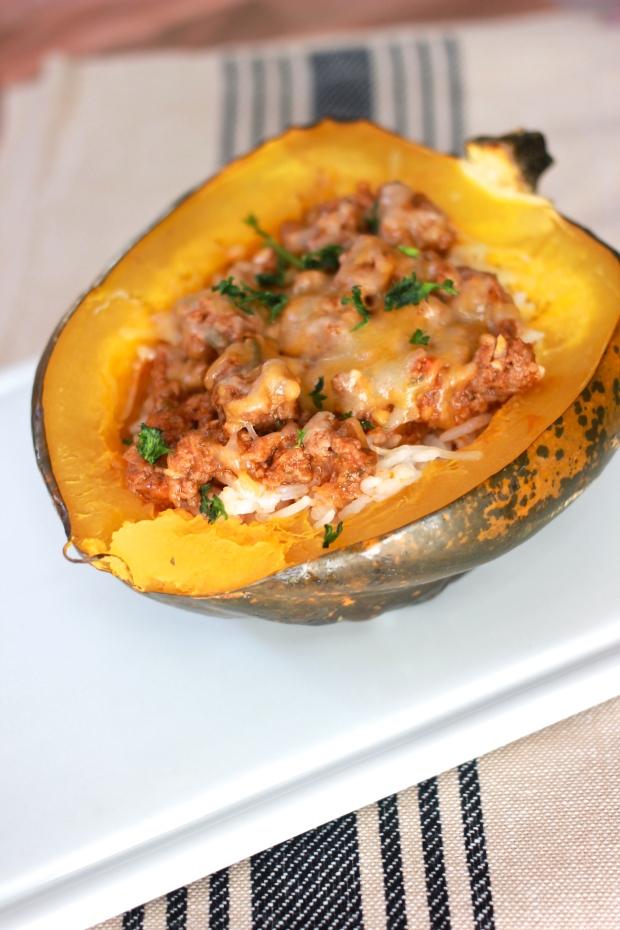 Stuffed Acorn Squash { Be What We Love recipe}